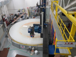 The LSST primary and tertiary mirrors, being polished.