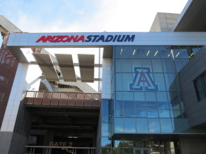 Arizona stadium, home of the Steward Mirror Lab.